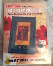 Craft Stamper Lasting Impressions Instructional DVD For Rubber stamping