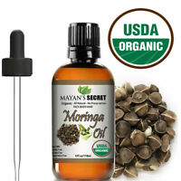 Moringa Oil 100% Pure Virgin  Cold Pressed  l, Anti-Aging, 4 fl.oz. USDA Organic