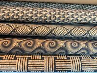 Natural cork leather fabric printed ECO friendly black stripes designs sheet