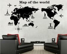 Wandtattoo Wandaufkleber Wandsticker Weltkarte Welt Map Atlas Weltkugel XL W066