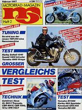 mo 2/87 1987 Boxer Axis 750 VS 1400 Intruder Yamaha RD 350 TZR 250 Honda TLR NSR
