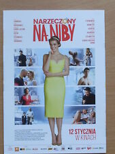 Polish Promo Flyer NARZECZONY NA NIBY Kaminska,Bohosiewicz,Adamczyk,Karolak