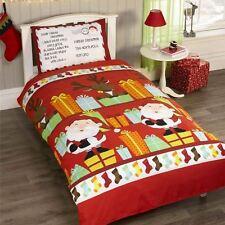 Babbo Natale lista LETTERA Set Copripiumino doppio BAMBINI NATALE Bedding NEW