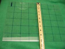 "20 SHEETS CLEAR ACRYLIC GRID PLASTIC SHEET FLAT STOCK 13-9/16"" x 10-1/4"" x 1/8"""