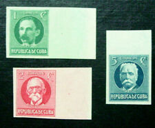 1926 Latin America, Portraits, 3 Stamps, Imperf, Mnh