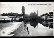 BAR-sur-SEINE (10) USINES TANNERIES & FOUR à CHAUX , Bords de SEINE en 1918