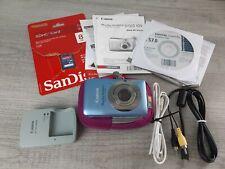 Canon PowerShot Elph SD1300 IS 12.1.MP 4X Slim Digital Camera - Blue 👉EUC👈 8GB