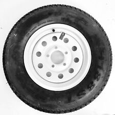 "Trailer Tire Rim ST175/80D13 1758013 B78-13 13"" LRC 5 Lug Wheel White Modular"
