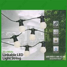 14.5m IP44 20 LED Light Bulb Outdoor Indoor Festoon Garden Party String Lighting