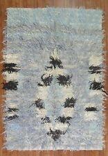 Vintage Moroccan Turkish Tolou Tulu Shag Rug Size 4'11''x7&# 039;