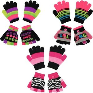 Jumping Beans Convertible Mittens & Gloves for Girls - 2 Pack