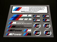 Auto Car Emblem Decals Fit For Powered By Bmw Motorsport Racing Badge Stickers