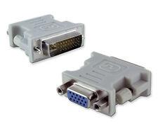Adapter DVI-I 24+5 Stecker auf VGA Buchse 15 polig Monitoradapter PC TFT