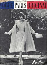 1957 Vintage VOGUE Sewing Pattern DRESS & COAT B34 (1839) By 'Patou'
