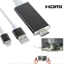 CABLE HDTV LIGHTNING VERS HDMI ADAPTATEUR NOIR 2m HD 1080P iOS IPHONE 5 6 7 8 X