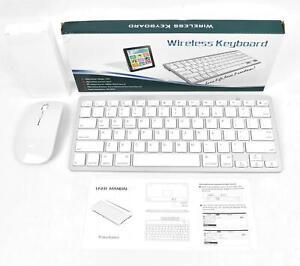 Wireless Bluetooth Mini Keyboard + Mouse For Apple iMac iPad Windows PC
