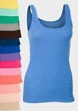 womens/ladies/girls green & pink  size 10 cotton hip length Ribbed Vest/T-shirt