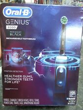BRAND NEW!! Oral-B Genius 8000 Rechargeable Electric Toothbrush - Black MOD#3757