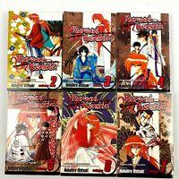 Manga RUROUNI KENSHIN SET of 6 (2-7) WATSUKI Shonen Jump Graphic Novel Edition