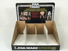 Riproduzione Vintage Star Wars 12-Back Store/esposizione negozio Intestazione e bin