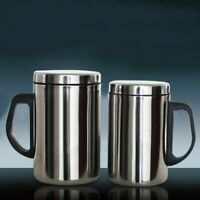 Unbreakable Stainless Steel Vacuum Flask Coffee Bottle Thermos350/500ml Durable