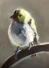 Original ACEO Miniature Oil Painting, Bird, by Gary Bruton