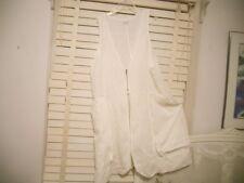 Hebbeding Dutch Design~ Arr to Wear ~ White Long Quirky Linen Vest Waistcoat ~ 2