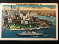 Vintage Postcard>1959>Battery Park and Lower Manhattan>New York City