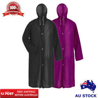 Raincoat Waterproof Rain Jacket Outdoor Womens Mens Hooded Long Length Unisex