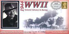 1944-2004 BENHAM SECONDA GUERRA MONDIALE 60th ANNIVERSARIO copertura generale anticipo in Birmania