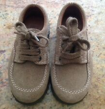 LITTLE BOYS HOGAN SHOES SUEDE LEATHER BROWN TAN 4 LACE UP SZ 7/23 MADE IN ITALY