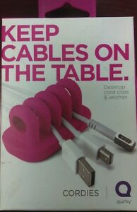 Quirky Keep Cables on the Table - Pink