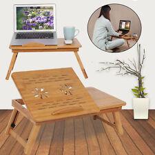 Laptop Desk For Lap Multi Use Table Portable Server Tray w Folding Legs Drawers