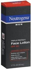 Neutrogena Triple Protect Face Lotion for Men SPF 20 Size 1.7 Oz Pack Of 3 Tubes