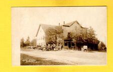 RPPC Durham,Waukesha County,WI General Store, Horses and wagons dirt road/Street