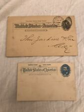 LOT OF TWO 1895 ULYSSES S. GRANT POSTAL CARDS PRR PENNSYLVANIA RAILROAD