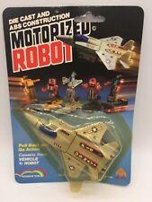 Vintage Motorized Robot Die Cast Jet Fighter Plane F-15 USA Transformers Toy MOC