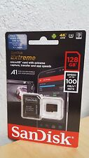 SanDisk 128GB MicroSDXC Extreme UHS-3 4K Memory Card A1 100mb/s SDSQXAF-128G