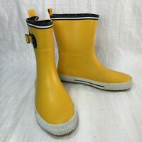 Chooka Deck Solid 1311981 Taxi Yellow Rubber Mid Buckle Women Rain Boots Sz 10
