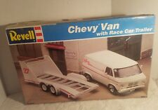 Revell Chevy Van with Race Car Trailer 1/24 scale model Kit # 7250 Unbuilt