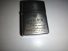 Year 1989 Zippo Lighter ROLEX Of Geneva MASTERPIECE WATCH CRAFTSMANSHIP Logo