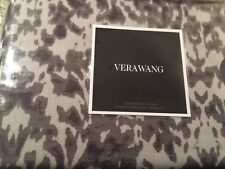 Vera Wang Queen Duvet Cover Degrade Damask Grey Cotton