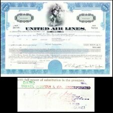 Broker Owned Stock Certificate: Drexel Burnham, payee; United Air Lines, issuer