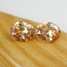 Oval 11x9mm Cognac Colour Cubic Zirconia 12.70 carats Loose Gemstone, Qty = 2