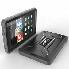 Case For Kindle Fire HD 6 Poetic【Revolution】Built-In Screen Protector Case Black
