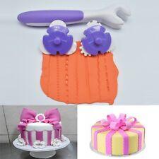 Fondant Strip Ribbon Cutter Sugar craft Tool Cake Rolling Pin Embosser Rol V2Y5