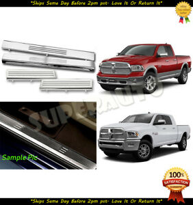For 2010-2018 Ram 1500/2500/3500 Stainless Clip-On Style Door Protection Sills