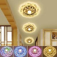 Crystal LED Modern Ceiling Light Fixture Aisle/Hallway Pendant Lamp Chandelier