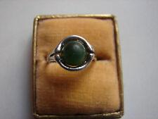 alter Ring mit Jade, 925iger Silber, Gr 53