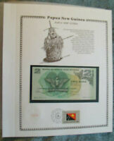 Bird of Paradise//Local Artifacts//p5c UNC 1981 Papua New Guinea 2 Kina